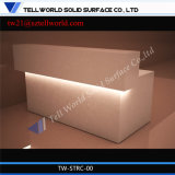 Luxury Curved Mini Front Desk LED Lighted Reception Desk with Lights