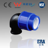 PP Female Thread Elbow Compression Pipe Fitting