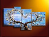 Family Tree Wall Art Handmade Tuscany Landscape Oil Painting on Canvas (LA4-055)