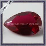 Pear Shape Rough Synthetic Ruby Gemstone