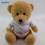High Quality Custom Small Soft Toy Teddy Bear with White Shirt