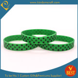 Customized Debossed Logo Silicone Wristbands with Enamel in High Quality
