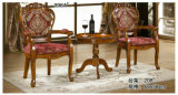 Wooden Table with Veneer, Round Table, Coffee Table, Side Table (208)