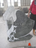 Lady Carving Granite Headstone / Tombstone with European Design