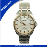 Two Tone Plating Stainless Steel Automatic Business Men′s Watch