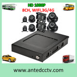 4CH 8CH Vehicle CCTV Camera Systems with GPS WiFi 3G 4G HD 1080P Mobile Car DVR