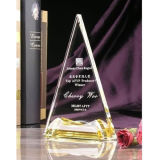 Sharp Triangle Crystal Glass Trophy Award