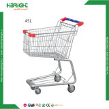 4 Wheels Metal Supermarket Shopping Trolley for Sale