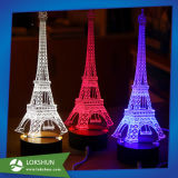 Amazing Rechargerable Optical Acrylic Built-in Battery LED 3D Lamp DC 5V Cable Free