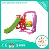 Indoor Playground Equipment of Plastic Multi-Functional Slide and Swing Set