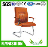 Brown Synthetic Visitor Chair Leather Office Chair