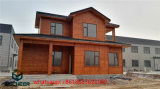 Wood Style Two Story House Prefabricated Light Steel Villa