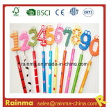 Wood Craft Hb Pencil with 0-9 Figure Top