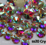 5A New Facted 8 Big 8 Small Ss20 4.8-5.0mm Crystal Ab Nail Art Glue on Non Hotfix Rhinestones (FB-SS20 crystal ab/5A)