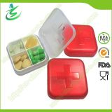 Wholesale Swiss 4 Cases Grid Pill Box; Plastic Pill Case