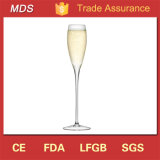 Fashion Style Hand Blown Champagne Flute Glass Manufacture