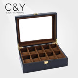 Factory Wholesale Custom Matte Finish Wood Watch Box with Glass Window