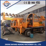 High Quality Four Wheel Small Piling Rig Hydraulic Pile Driver