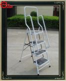 4 Steps Steel Ladder (with handrail) (CQX804-1)