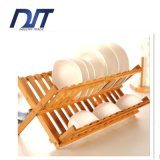 Custom Design Simple Foldable Dishes Bowls Wood Drainer Frame