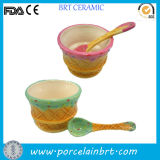Nice Shaping Customized Ice Cream Bowl with Spoon