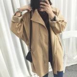 Fashion New Style Loose Zippered Oversize Women Jacket Coat