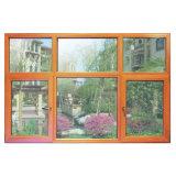Wooden Colourful Aluminum Profile Casement Window with Multi Lock K03030