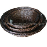 Customized Hand-Made Printed Vintage Home Storage Willow Oval Tray