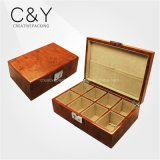 High Gloss Lacquer 8 Slots Burl Wooden Watch Storage Box