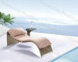 Wicker Outdoor Chaise Lounge, Rattan Sun Lounger with Side Table, Patio Chaise Lounge (M9C202)