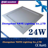 Yaye Hot Sell CE/RoHS Approval 300X300cm Recessed Square 24W LED Panel Light with Warranty 2 Years