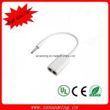 3.5mm Extension Audio Splitter Cable Male to 2 Female Cable