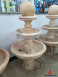 Beige Marble Floating Ball Water Fountains for Outdoor Decoration