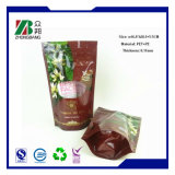 Resealable Plastic Stand up Ziplock Food Packaging Bag with Zipper