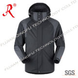 Breathable Outdoor Ski Jacket with Hoody (QF-660)