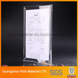 Acrylic Menu Stand/Plastic PMMA Acrylic Menu Display for Hotel