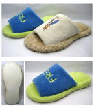 Velour with Print for Women′s Warm Indoor Slipper (25ta7079)