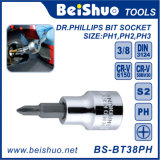 Different Head Phillips Hex Slotted Bit Socket