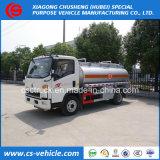 Light Duty Sinotruk HOWO 4X2 5000L Fuel Tank Truck 5m3 Oil Refueling Truck