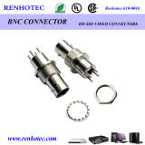 Brass Waterproof Electrical BNC Jack PCB Receptacle Connector