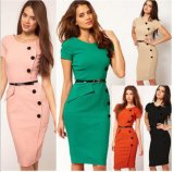 Factory Clothes OEM 2015 Fashion Office Women Bodycon Dress