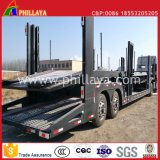 Auto Vehicle Hydraulic 6 SUV Hauler Semi Chassis 8 Car Carrier Trailer