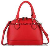 Soft Red Fashion Cowhide Leather Ladies Handbag (KCL05-4)