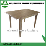 Wood Rectangle Dining Table in Light Oak Finish (W-T-850)