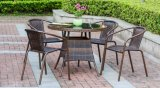 Outdoor Rattan and Wicker Chair and Dining Table