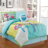 Ebay/Amazon Green Color 100% Polyester Kids Comforter Set with Toy Bedding Set