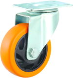 34/5 Inch Orange PVC Swivel Caster Wheel