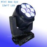 Mini Beam Bee Eye LED Moving Head 15W *7PCS Osram LED