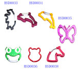 Cheap Quick Release Aluminum Animal Shaped Hook for Keychain Carabiner/Camping Spring Snap Clip