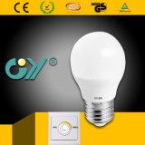 Dimmable LED Bulb 6W G45 E27/E14 with Ce RoHS SAA